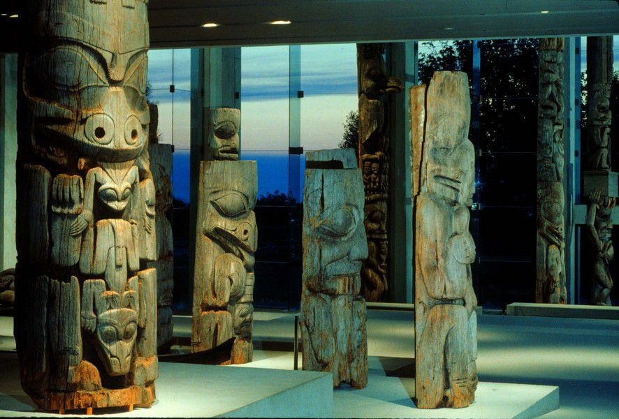 Totem poles at UBC's Museum of Anthropology