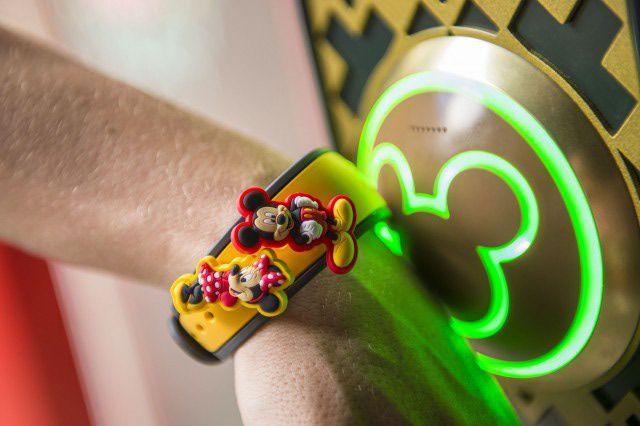 A MagicBand at Walt Disney World in Orlando, Florida
