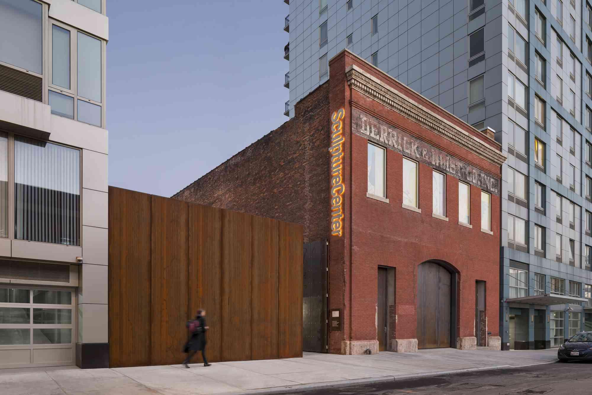 The exterior of SculptureCenter