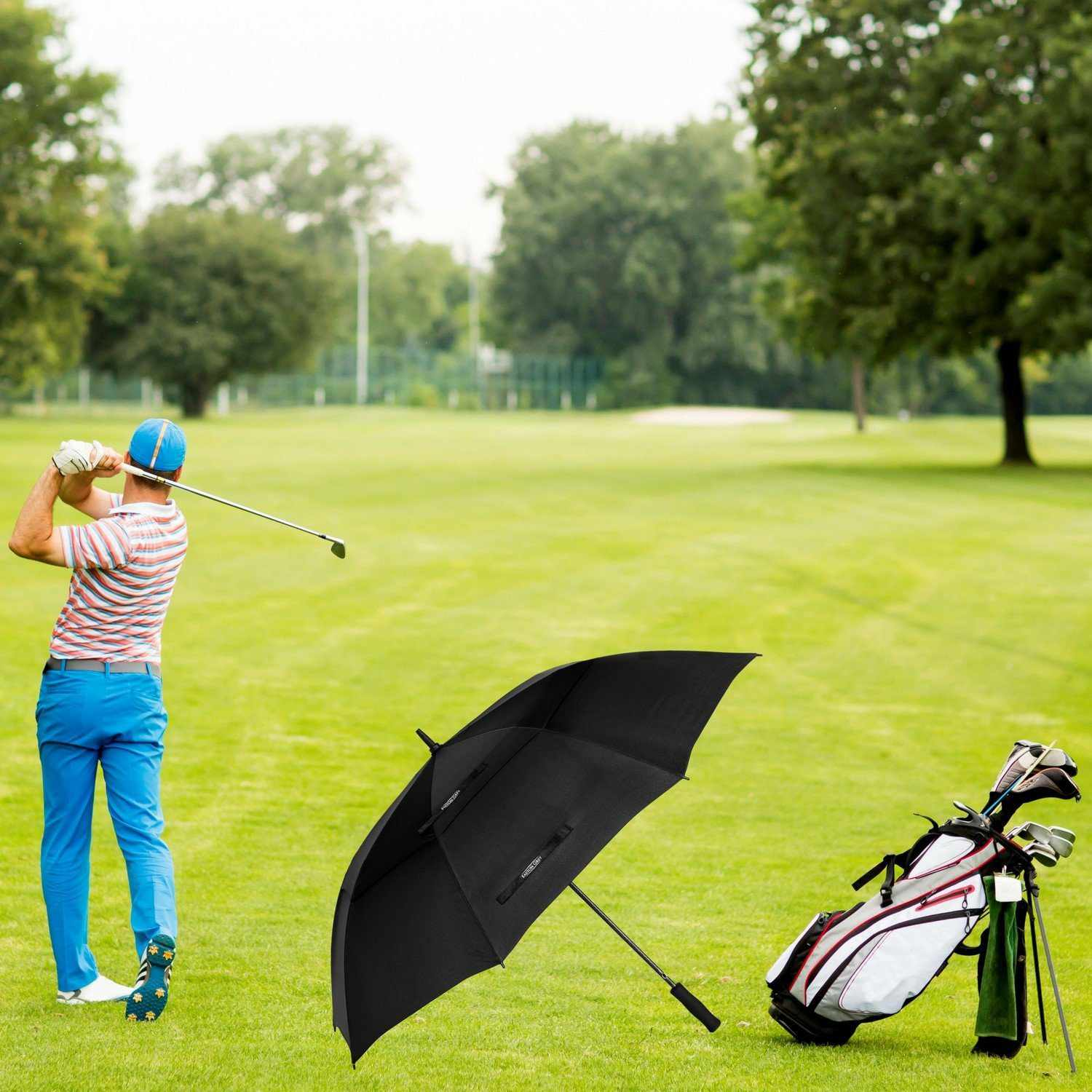 3ff41cde6636b9 Best Budget: Third Floor Umbrellas Windproof Golf Umbrella