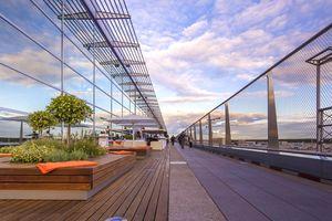 The Visitors Terrace at Frankfurt Airport.