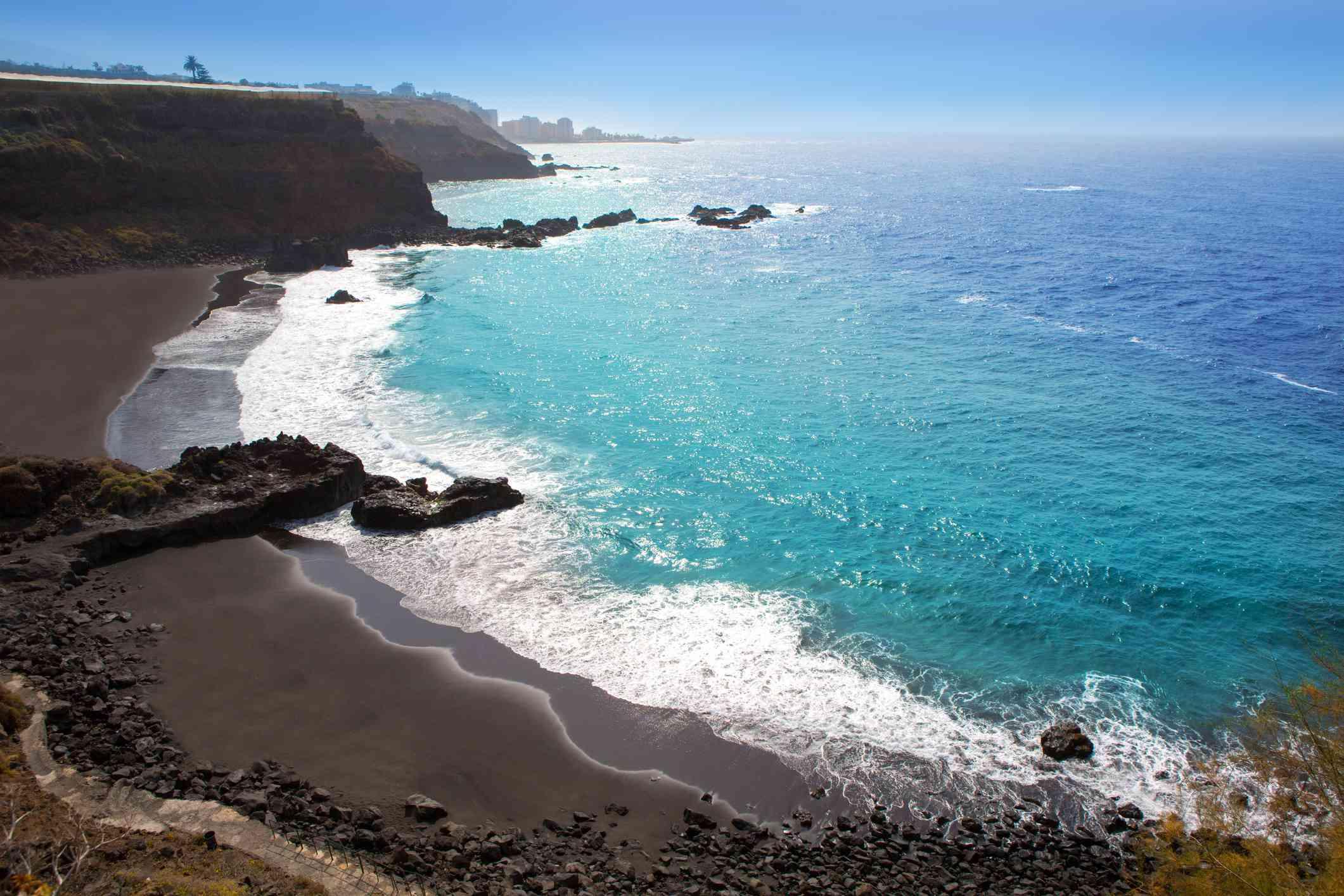Playa de El Bollullo en Tenerife en las Islas Canarias