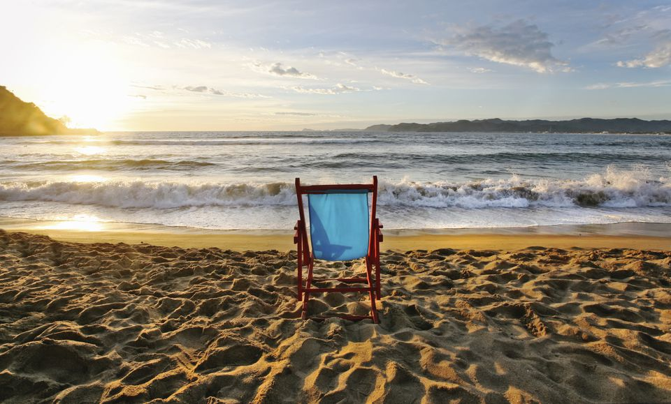 Empty beach chair