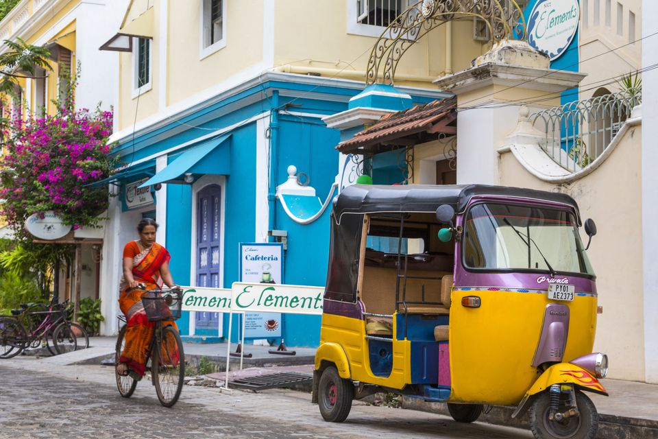 Pondicherry street scene.