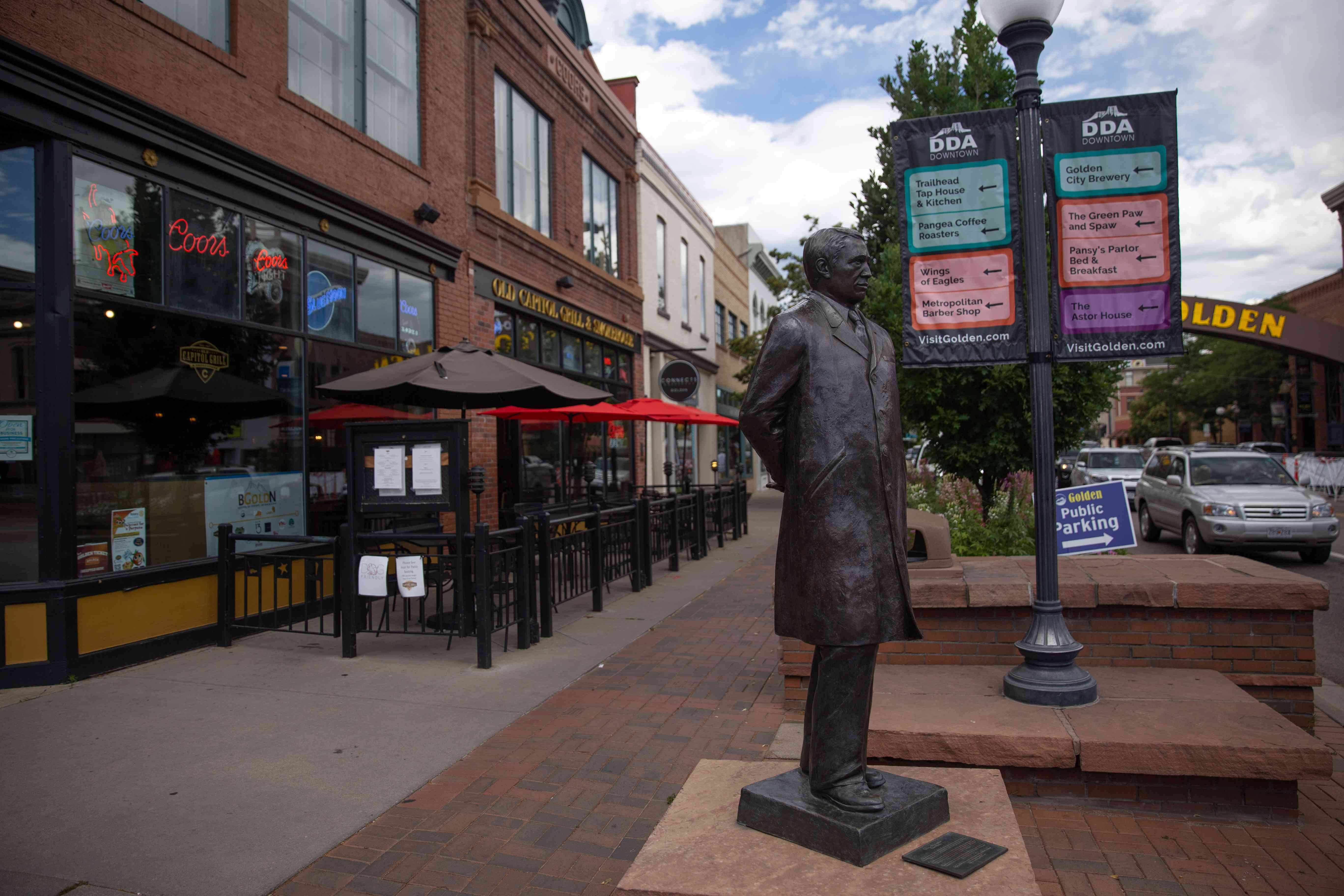 Storefronts in Golden, Colorado