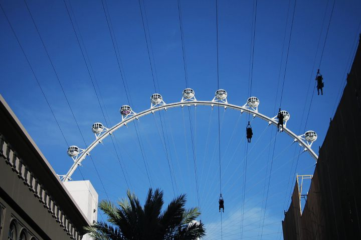 A ferris wheel in Las Vegas
