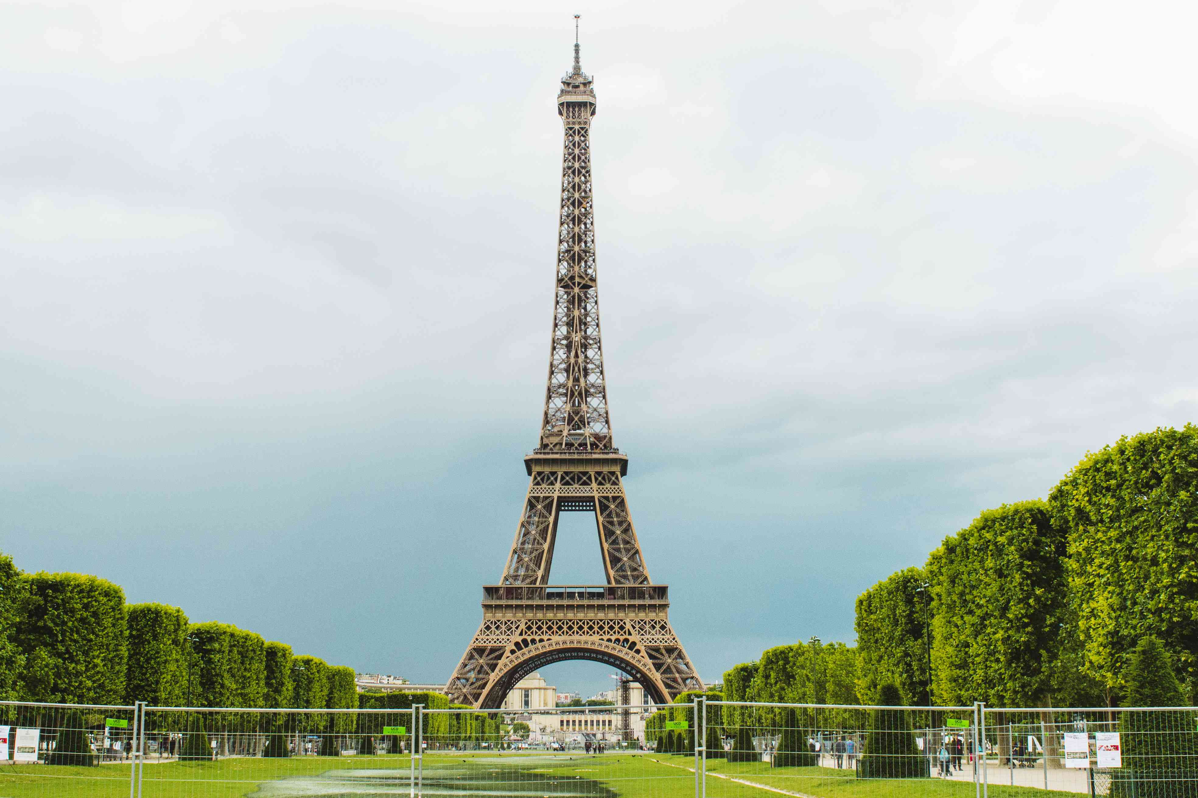 The Eiffel tower in Champ de Mars