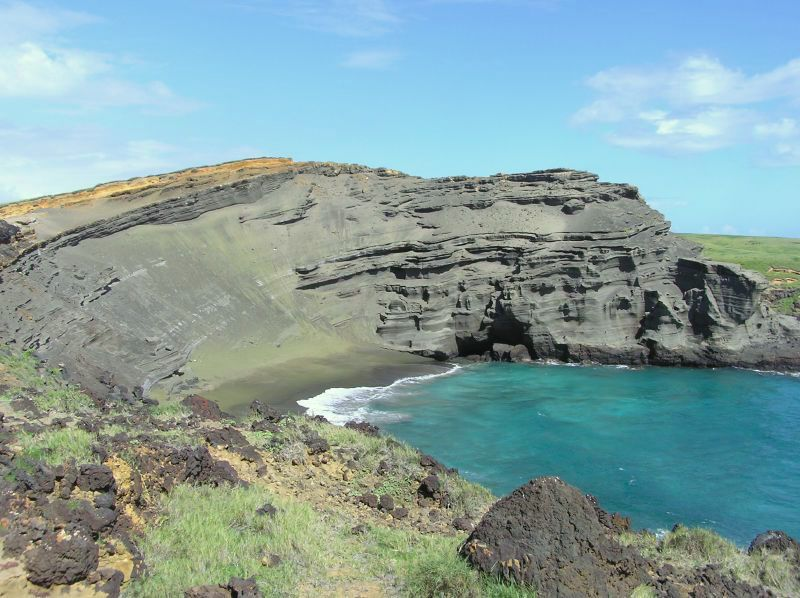 Hawaii's Green Sand Beach