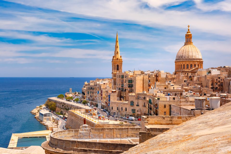 Domes and roofs of Valletta , Malta