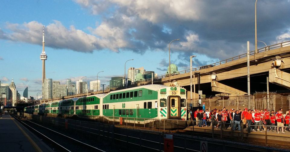 GO Train in Toronto