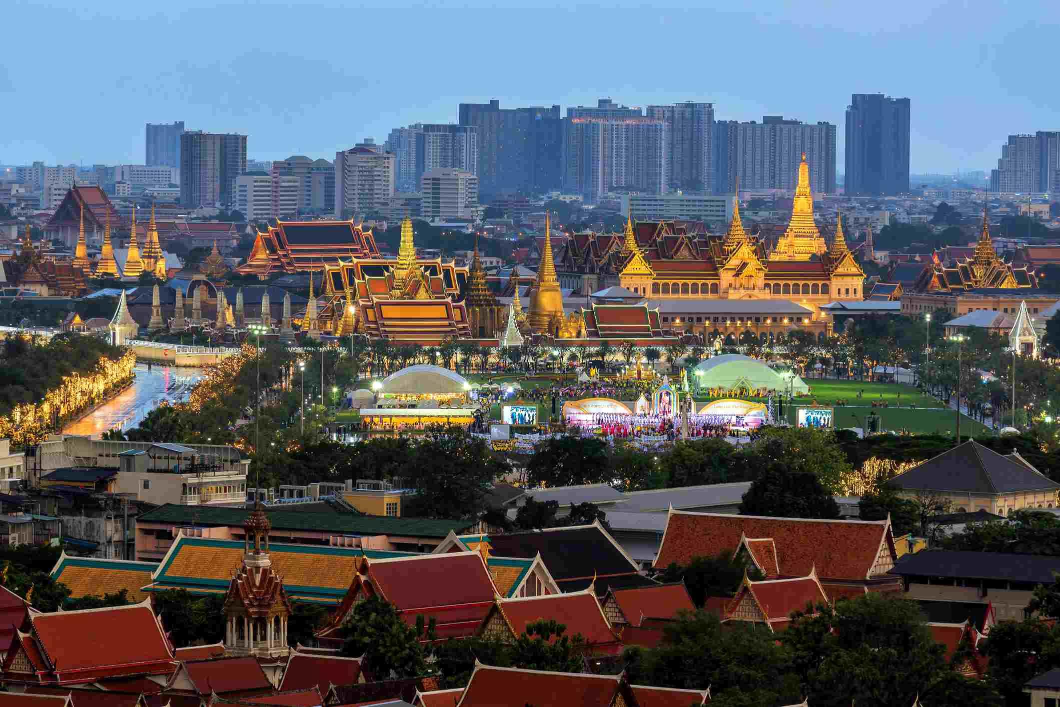 66th birthday celebration of His Majesty King Maha Vajiralongkorn at Grand Palace,Wat Phra Kaew