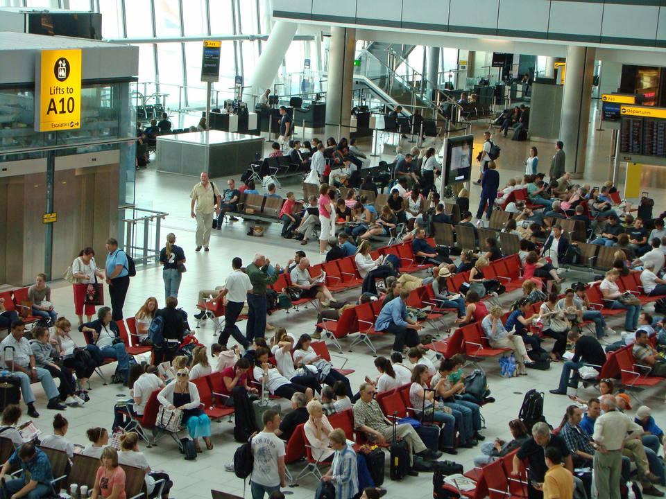 A busy terminal