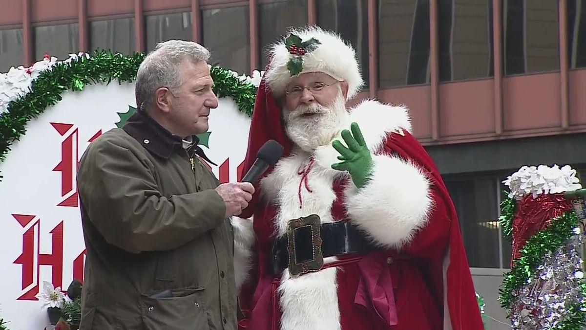 Santa Claus at WPXI Holiday Parade