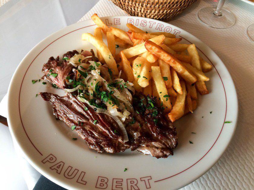 Steak-frites at the Bistrot Paul Bert, Paris