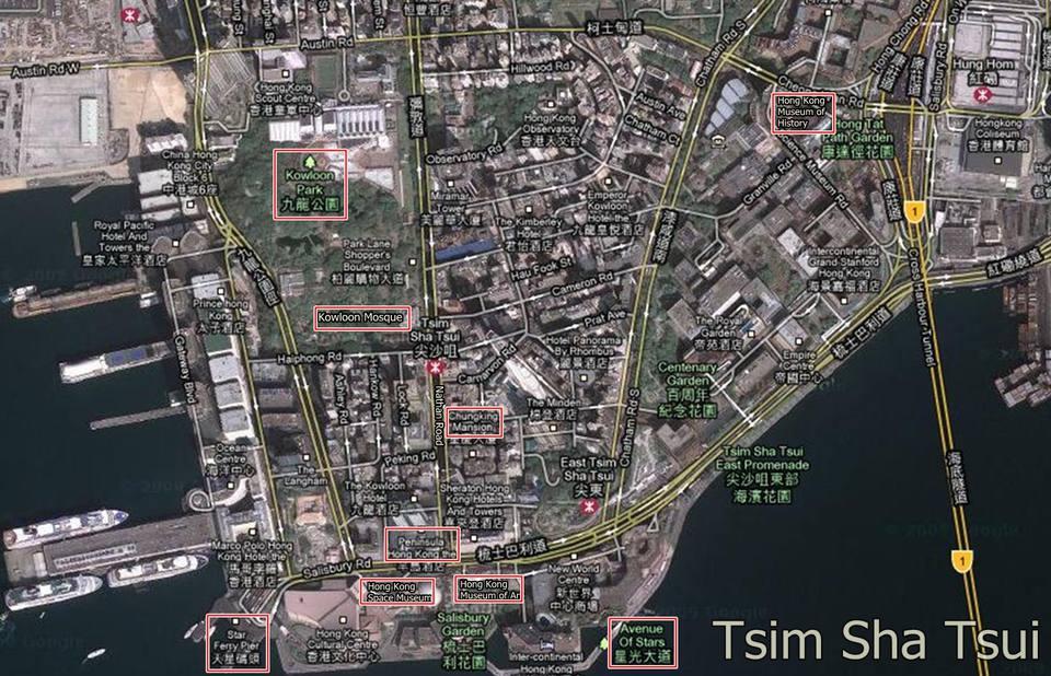 Tsim Sha Tsui Map