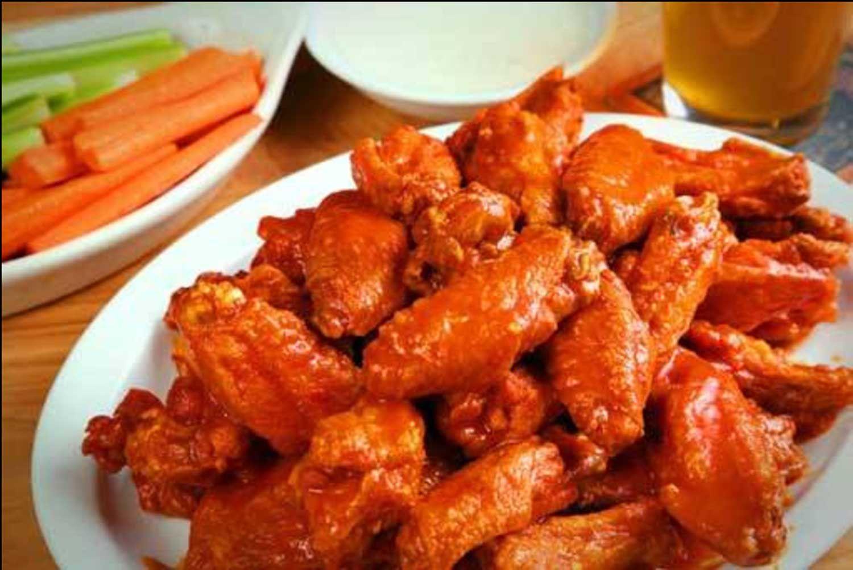 Anchor bar original Buffalo chicken wings.