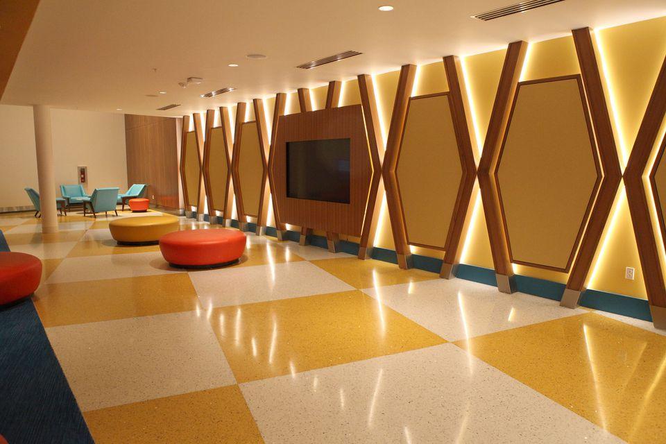 Waiting area at the Cabana Bay Resort