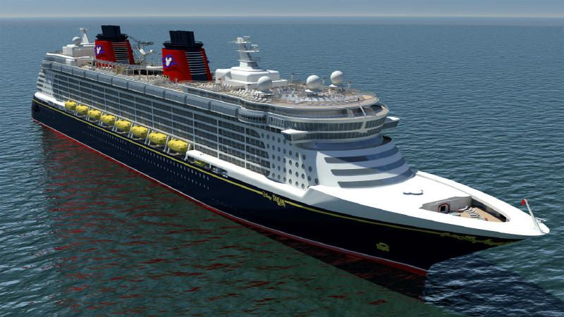 Disney Dream - rendering of Disney Dream new cruise ship, photo courtesy of Disney Cruise Line