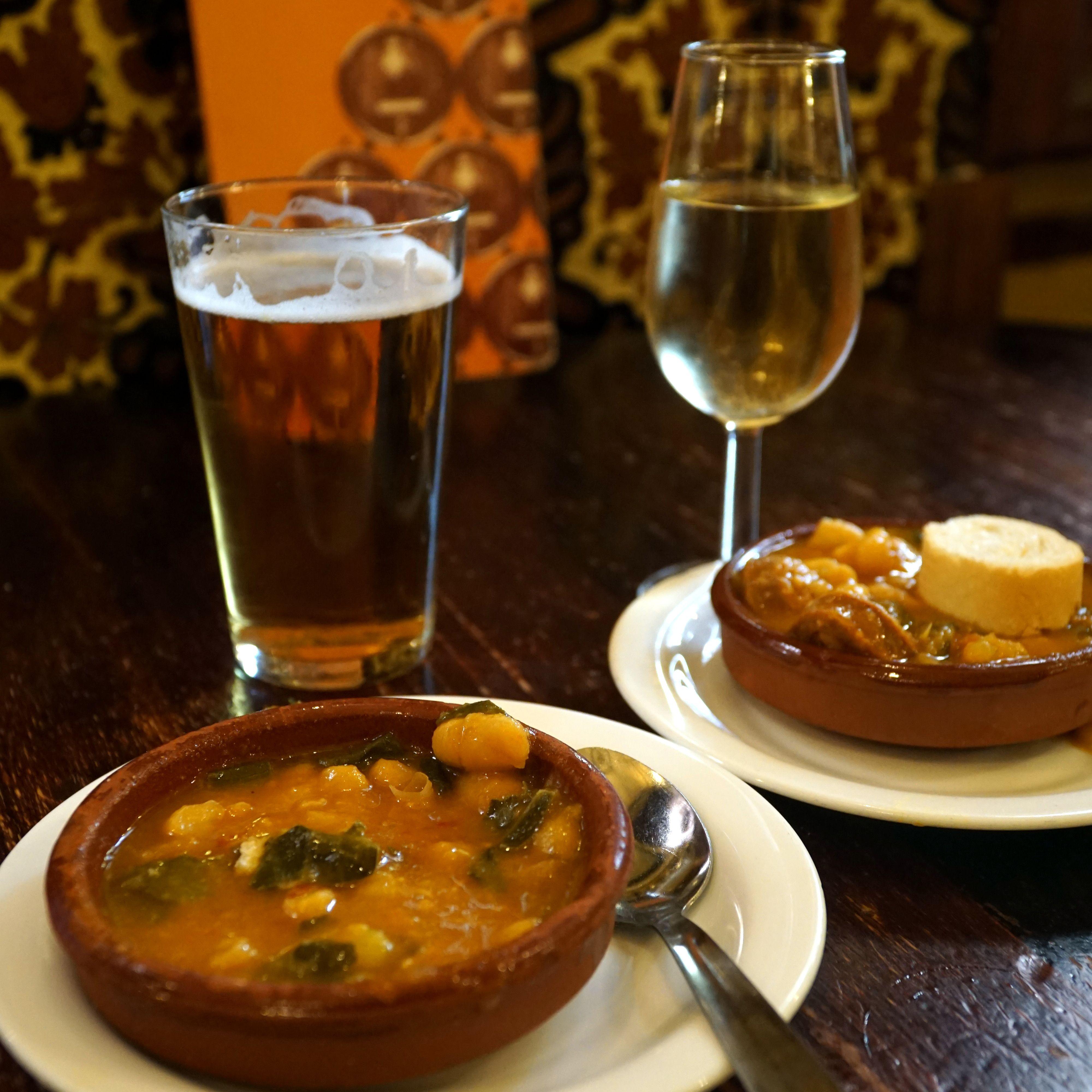 Bean stew at Bodegas Castañeda