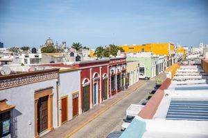 Colorful buildings in Campeche