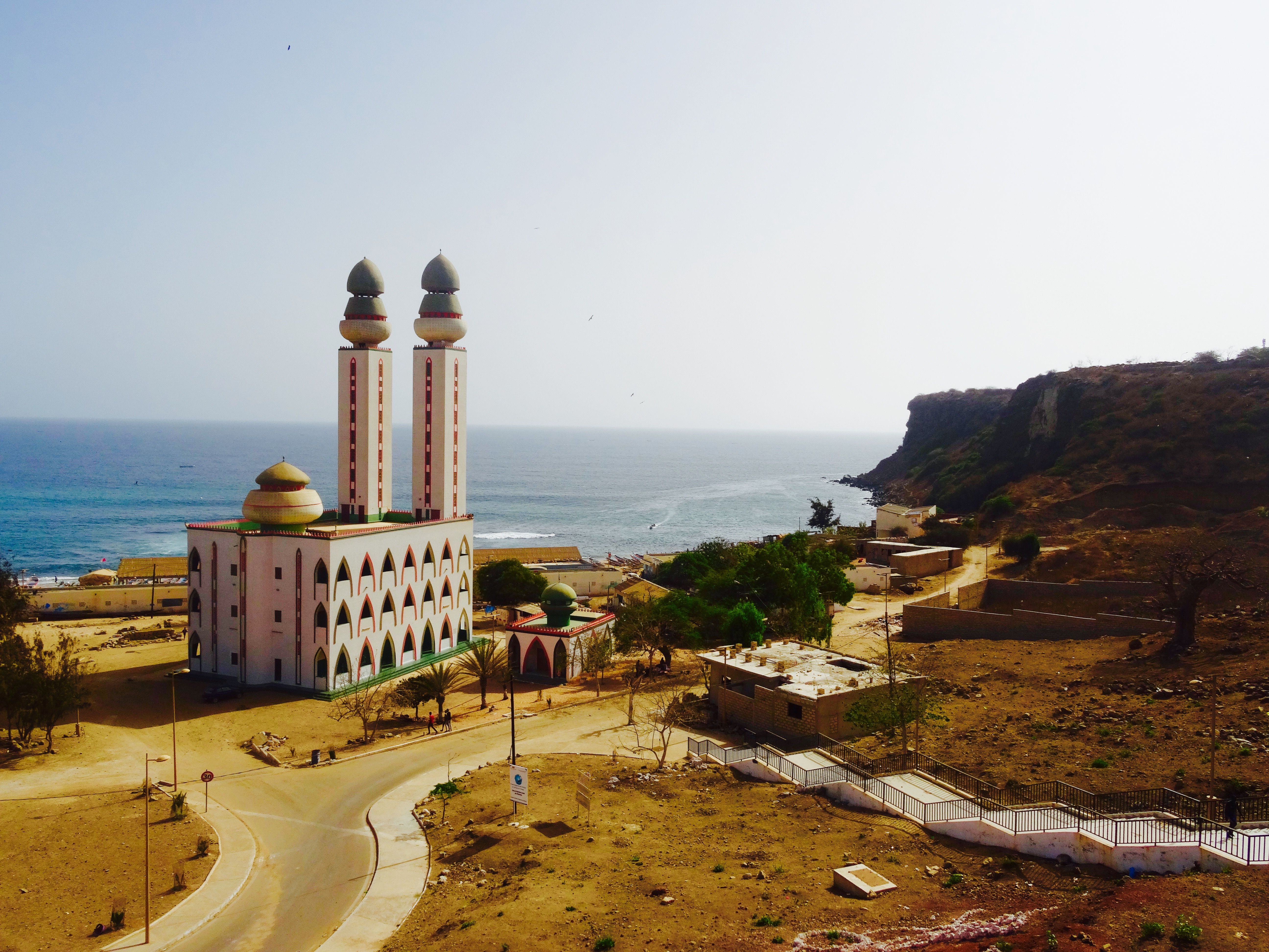 Scenic View with Mosque in Dakar, Senegal
