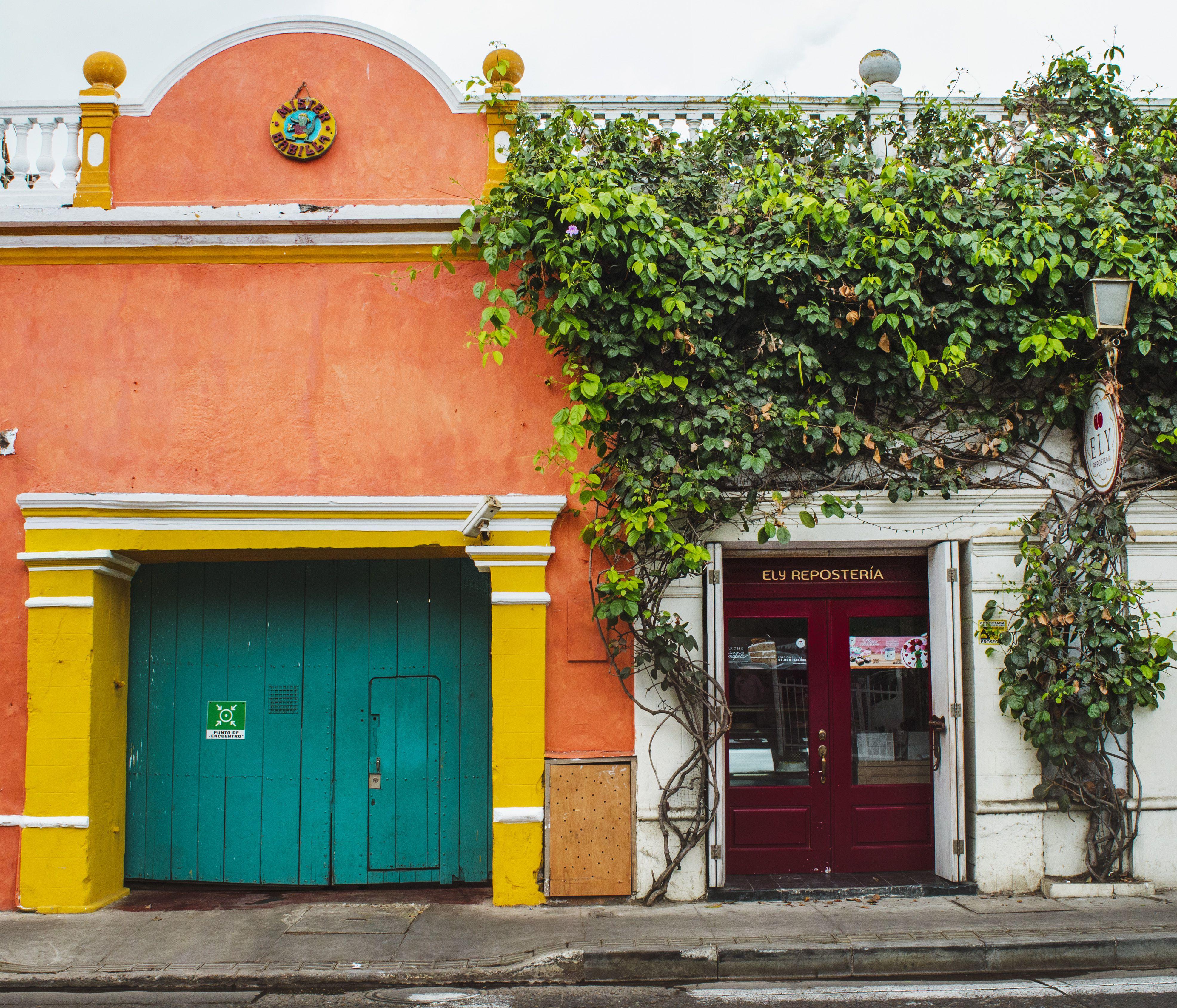 Colorful buildings in Cartagena