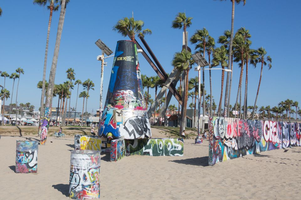 The Art Walls At Venice Beach Boardwalk