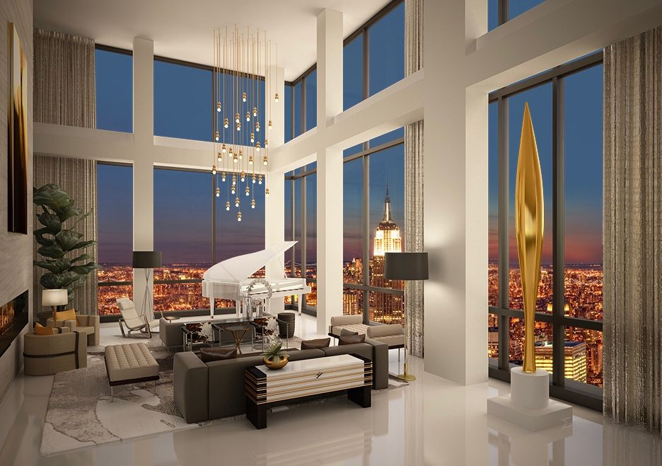 Amazing views from Trump Hotel's Presidential Penthouse in NYC