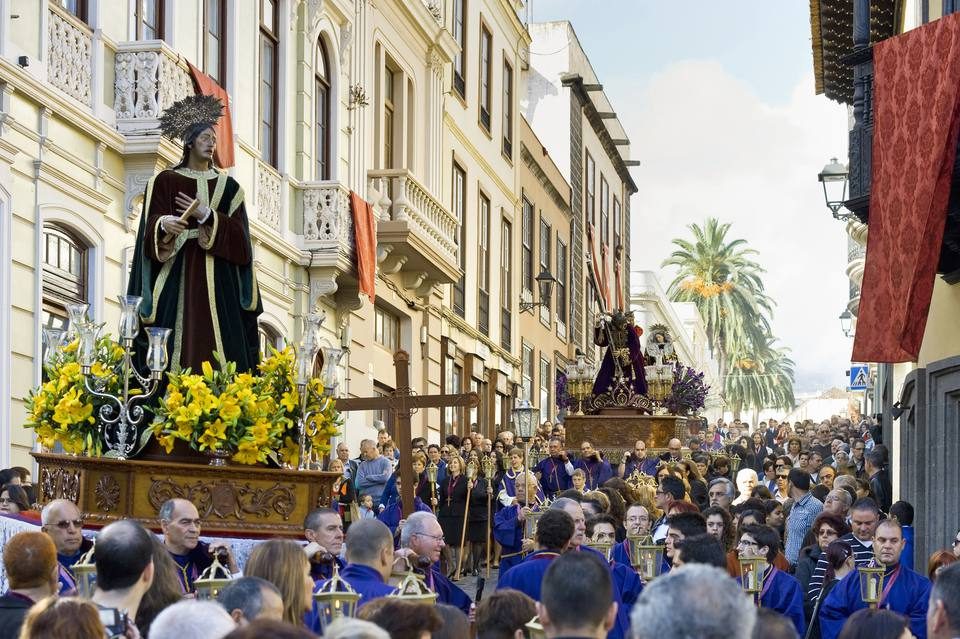 Statue of Jesus Christ at the easter procession, Semana Santa, La Orotava, Tenerife, Canary Islands, Spain, Europe