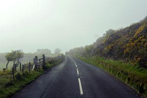 Road landscape near Ballycastle, Northern Ireland