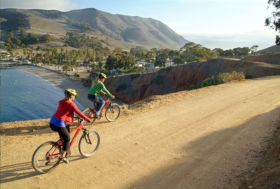 Biking on Catalina Island, CA
