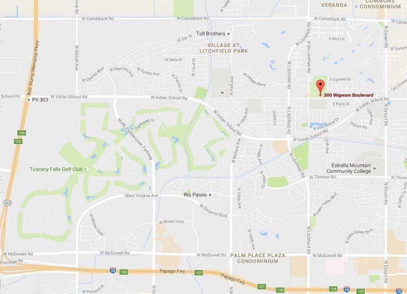 Map Of Loop 303 Arizona.The Wigwam Litchfield Park Address Map Directions