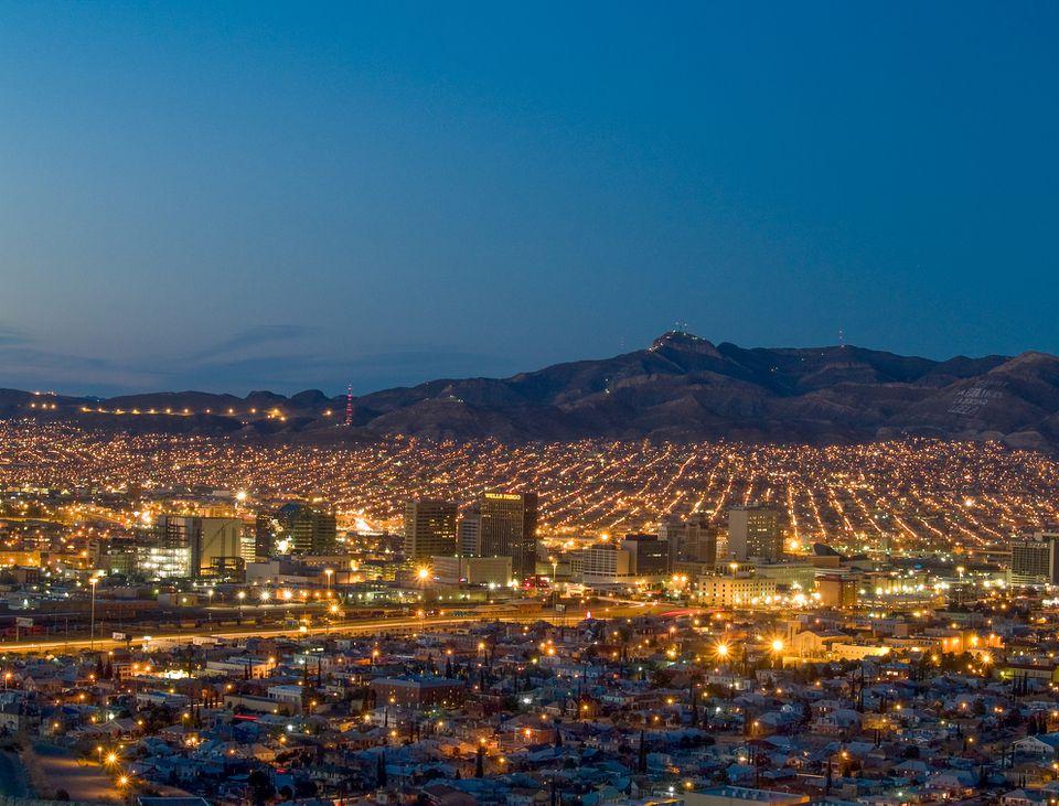 El Paso and Juarez Cityscape