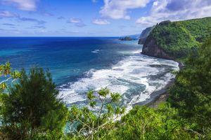 Pololu Valley and beach on the Big Island