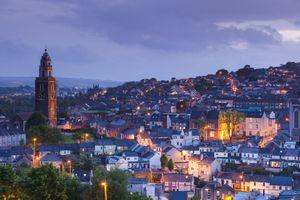 Cork City at sunset