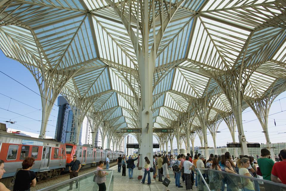 Train station in Lisbon