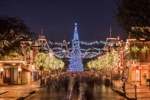 Christmas lights at Disneyland