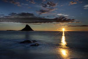 Bleik island on the northwest coast of Norway