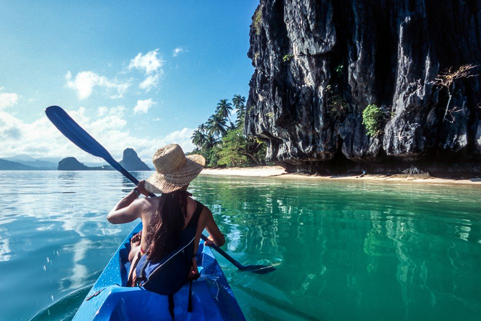 Kayaking along El Nido, Philippines