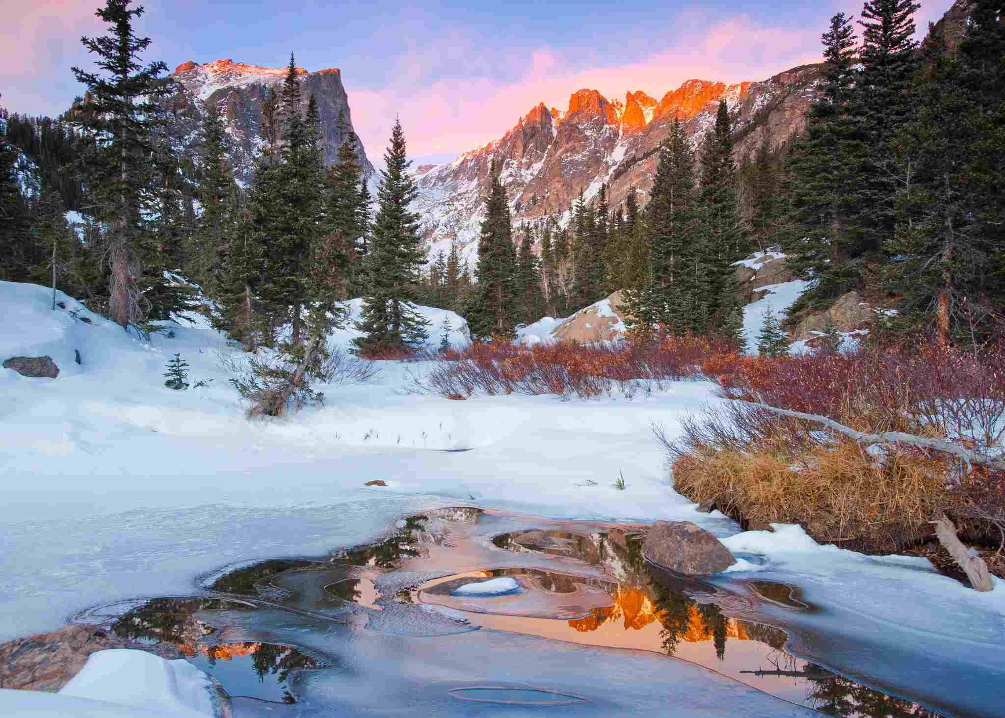 Little stream near Rocky Mountain National Park near Estes Park, CO