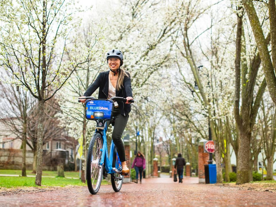 ¿Las bicicletas azules de Boston comparten viajes en bicicleta
