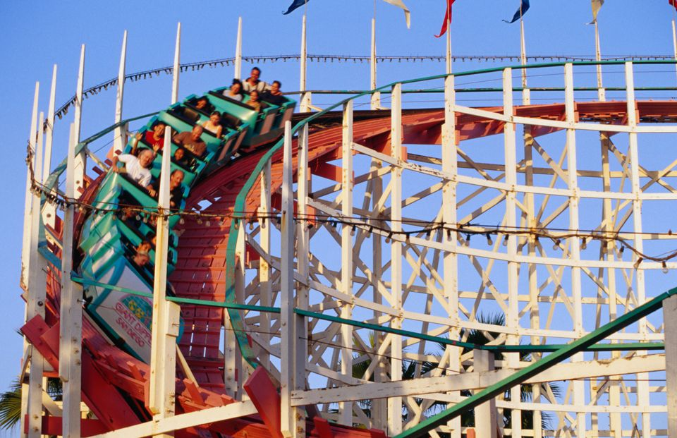 The Giant Big rollercoaster, Belmont Park, Mission Beach.