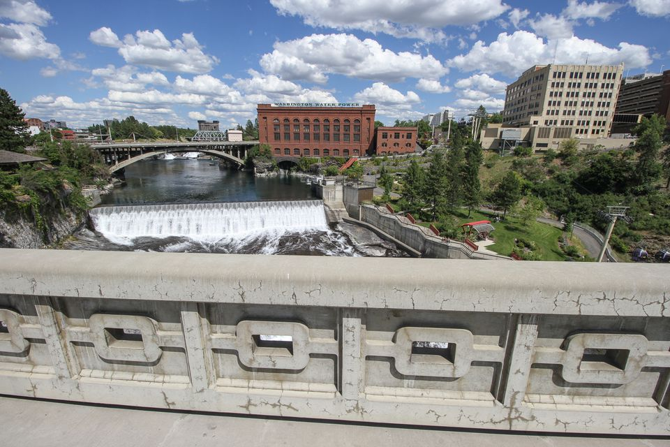 The bridge overlooking Spokane Falls