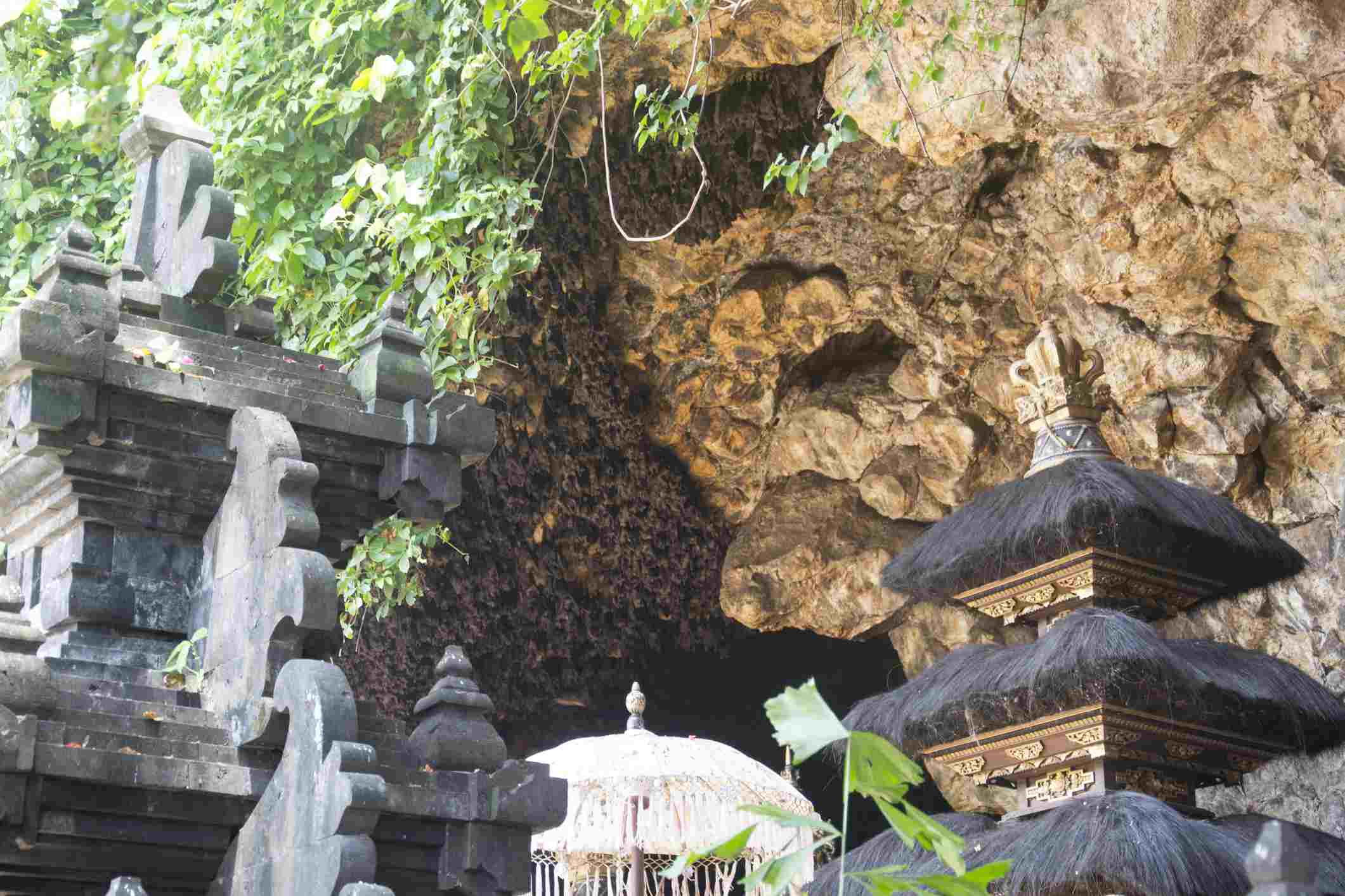 Goa-Lawah Temple in front of a bat cave