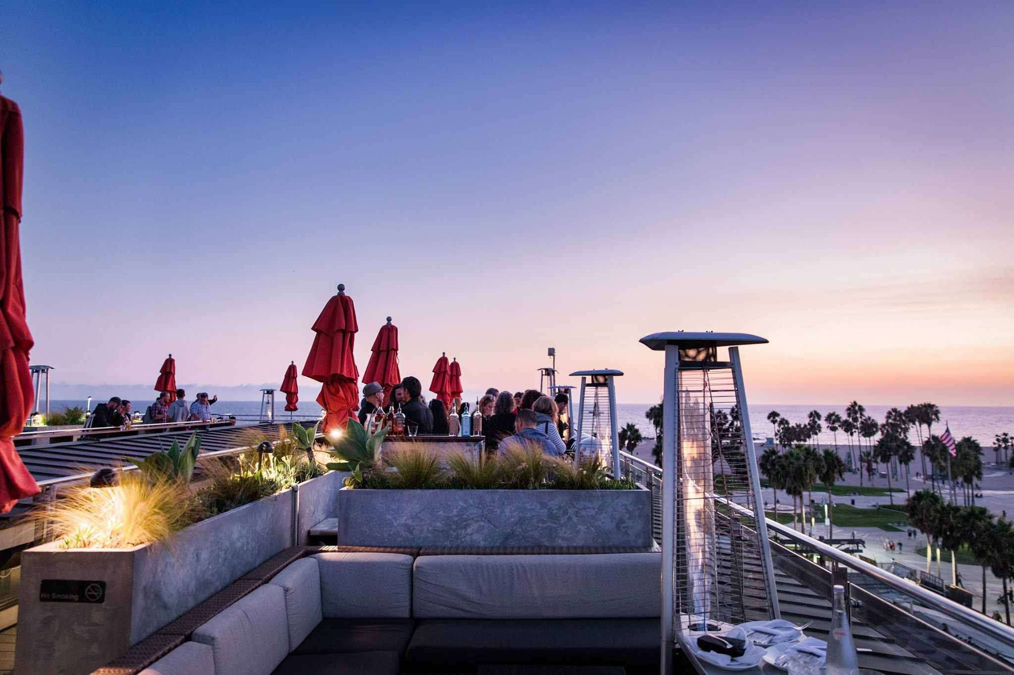 The rooftop bar at the Hotel Erwin