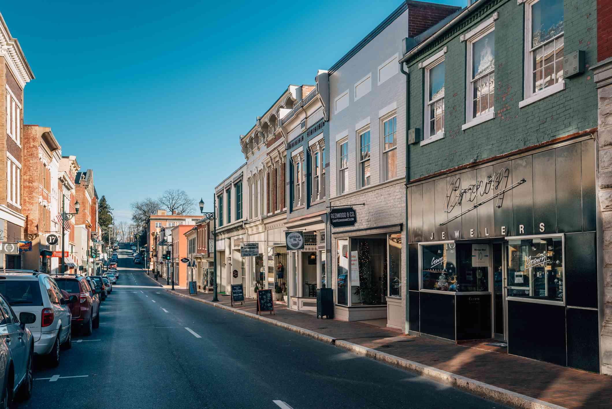 Beverly Street, in downtown Staunton, Virginia