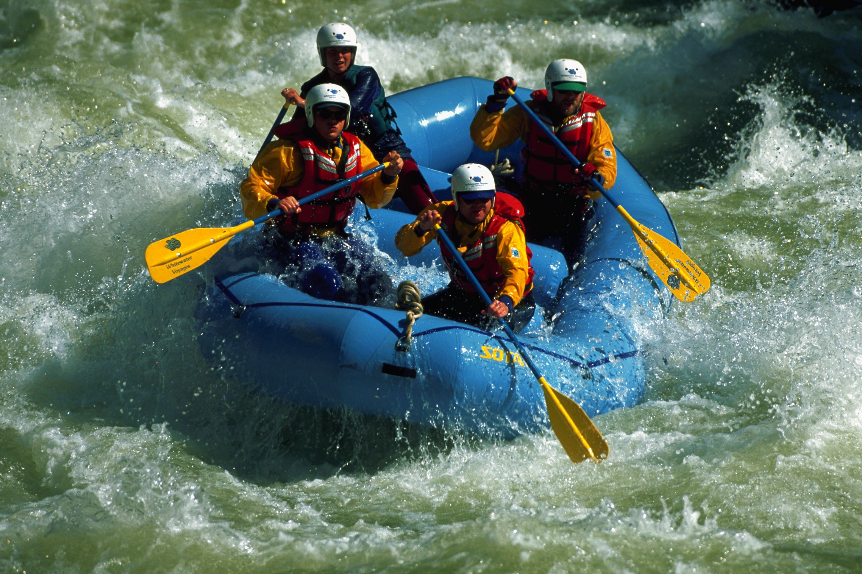 Rafters on Merced River