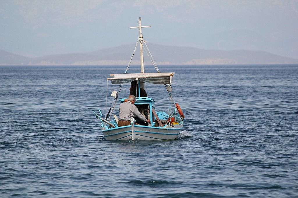 Fishing in Santorini