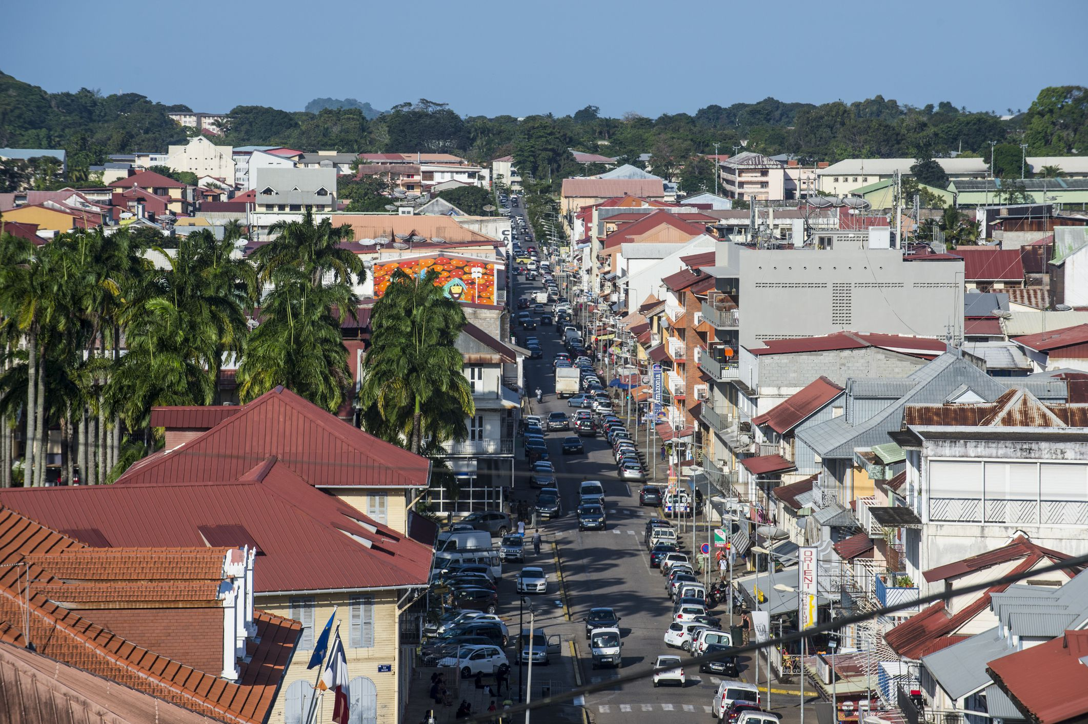 View over Cayenne, French Guiana, Department of France, South America