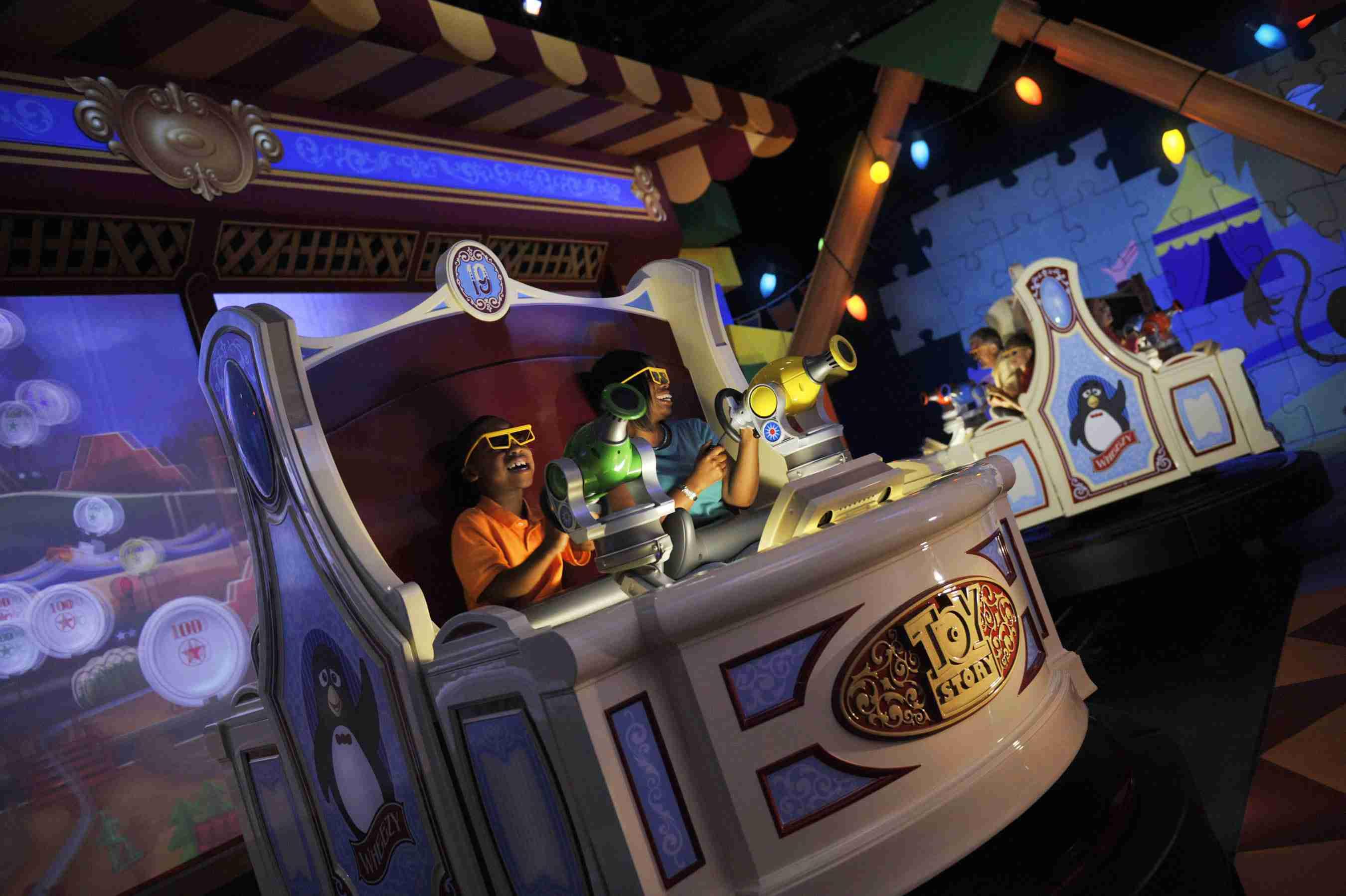 Toy Story Mania ride at Walt Disney World.